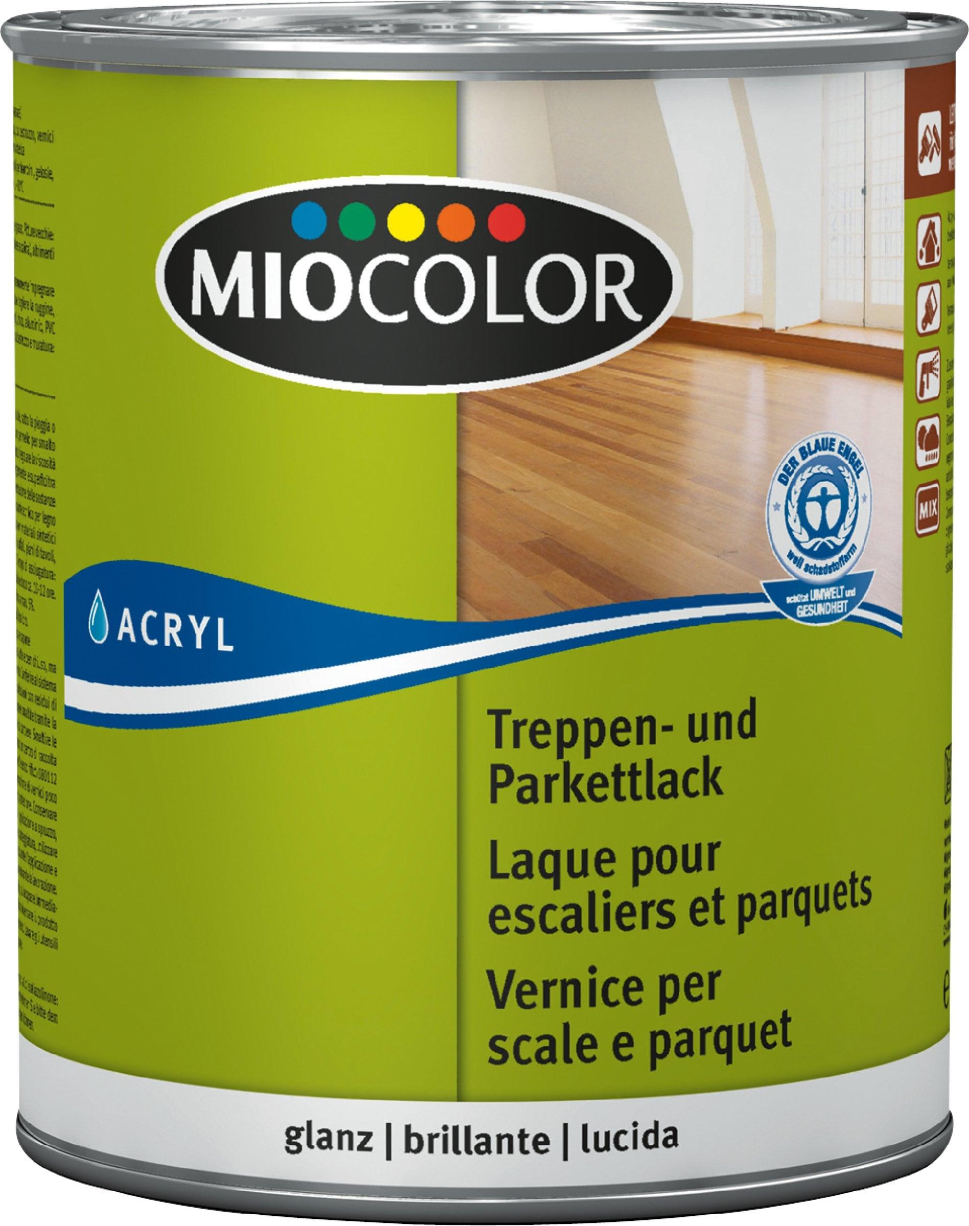 Miocolor Treppen- und Parkettlack glanz Farblos 750 ml