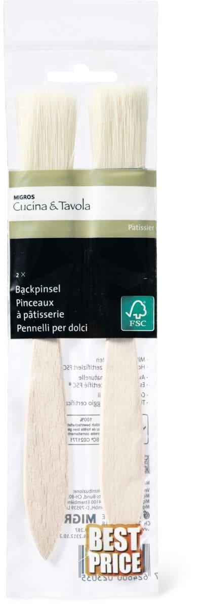 Cucina & Tavola Backpinsel mit Naturborsten, 2 Stück