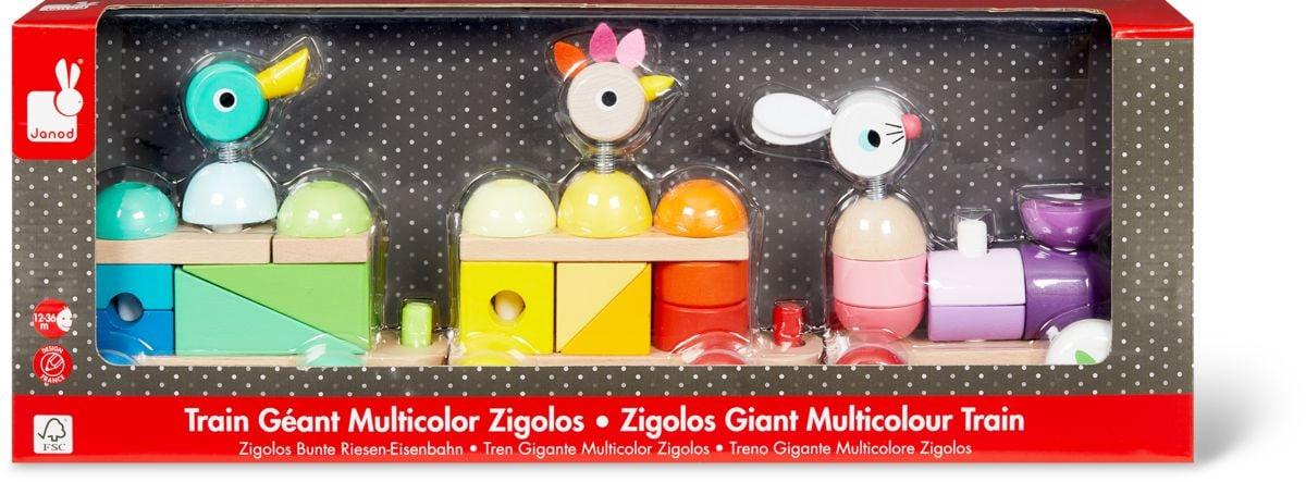 Train géant multicolor Zigolos