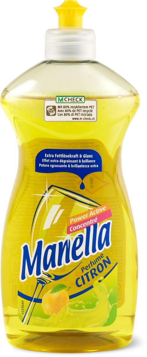 Manella Citron Power Active  liquide-vaisselle