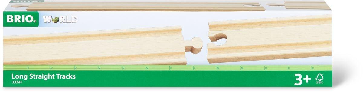BRIO 1/1 Rails droits longs, 216mm (FSC)