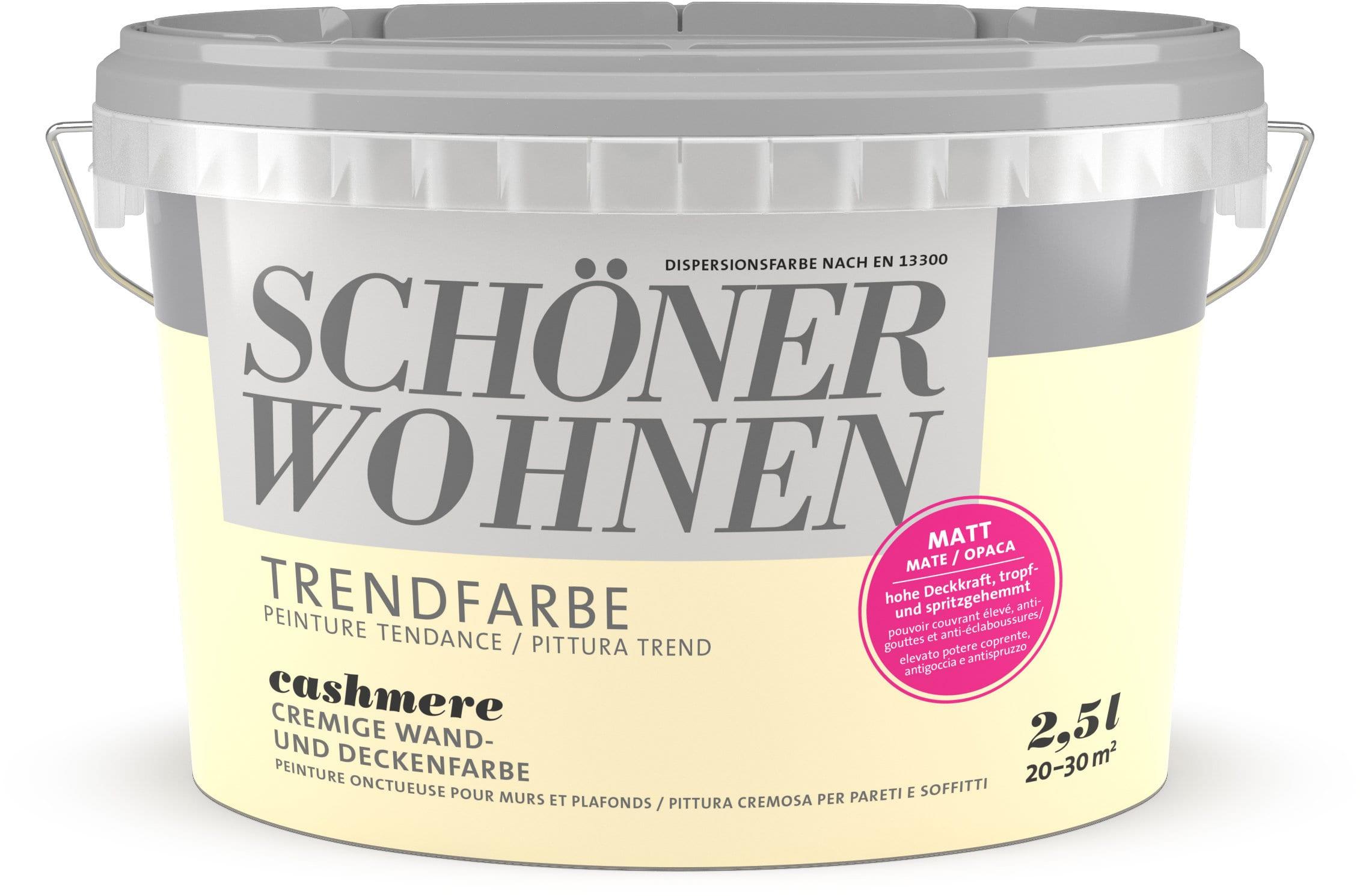 Schöner Wohnen Vernice di tendenza opaca Cashmere 2.5 l