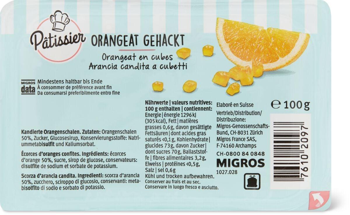 Patissier Orangeat gehackt