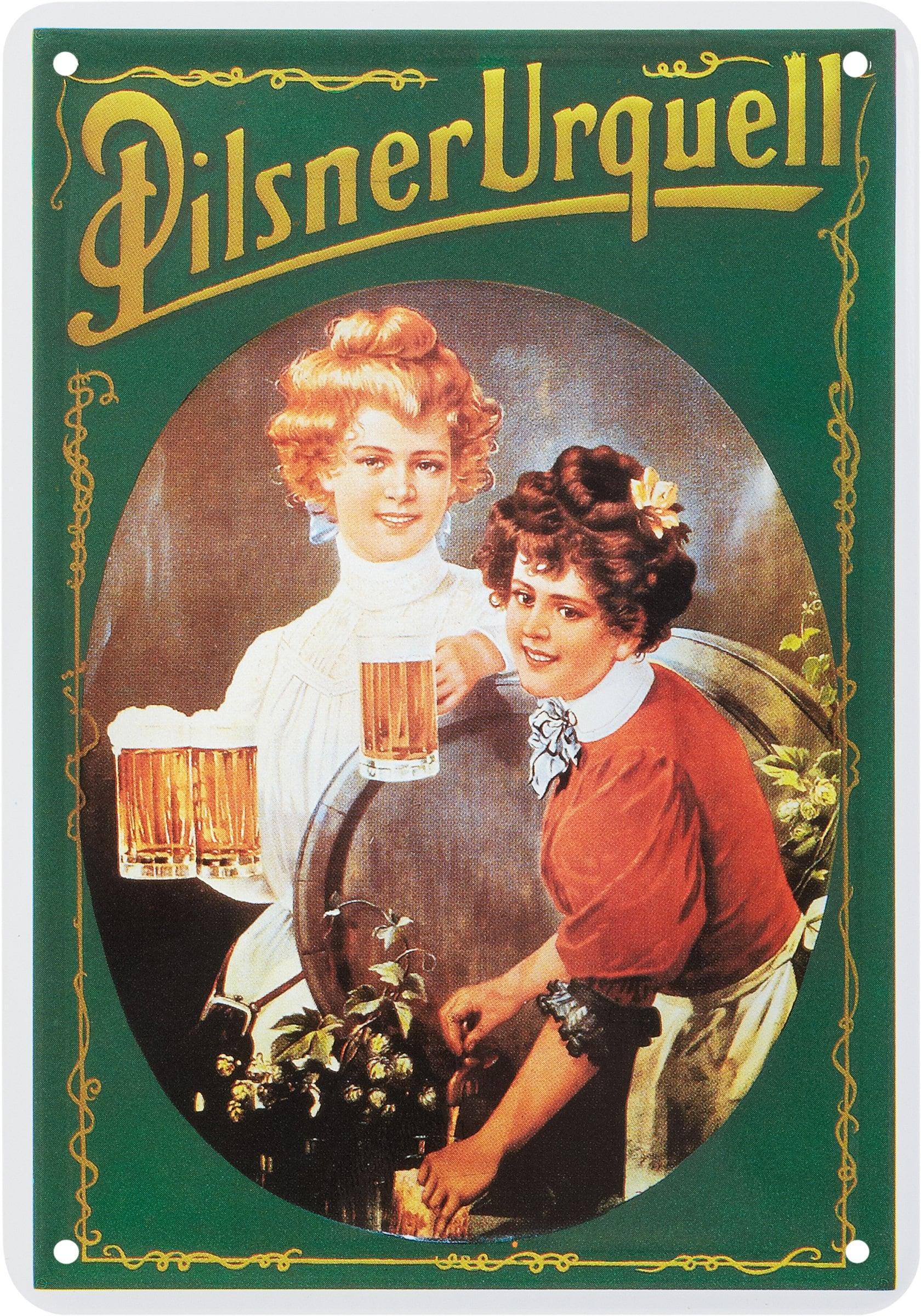Werbe-Blechschild Pilsner Urquell