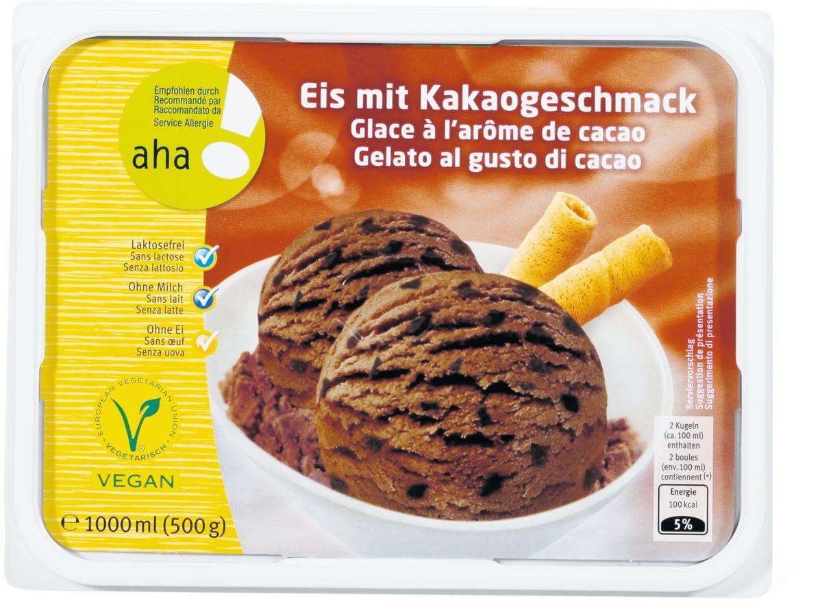 Aha! Eis mit Kakao-Geschmack