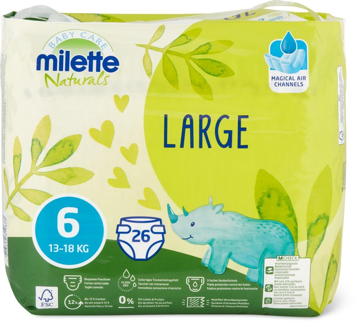 Milette Naturals Large 6