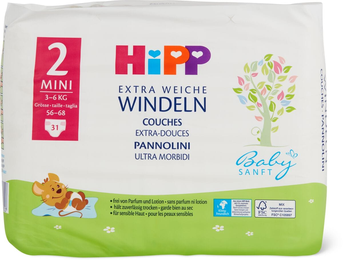 Hipp Babysanft pannolini Mini 2