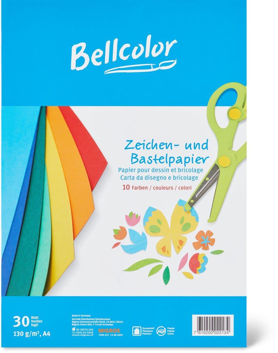 Bellcolor Papier pour dessin et bricolage A4