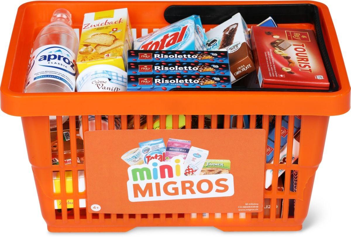Migros-Kindereinkaufskorb mit Minis Rollenspiel