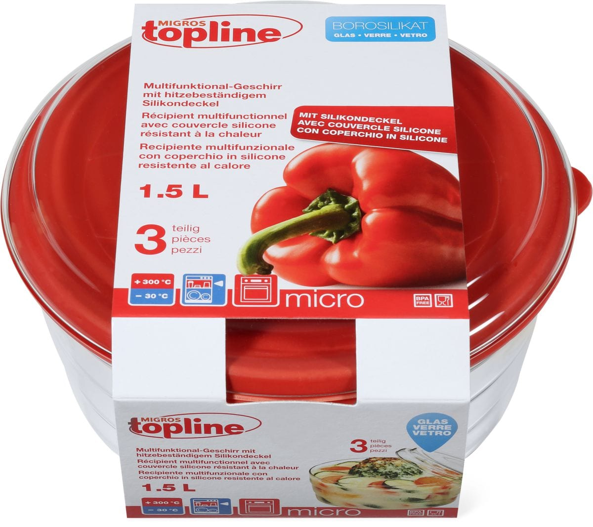 Multifunktional-Geschirr M-TOPLINE