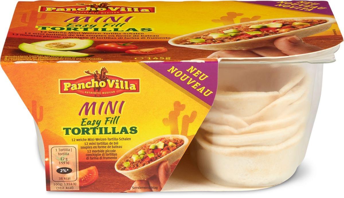 Pancho Villa mini Easy fill tortillas