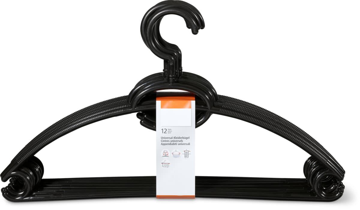 Kleiderbügel im 12er-Pack schwarz
