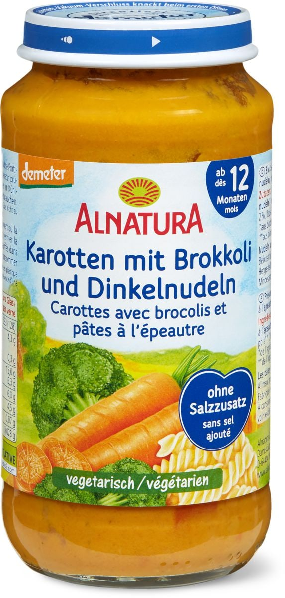 Alnatura Karotten mit Brokkoli und Dinkelnudeln