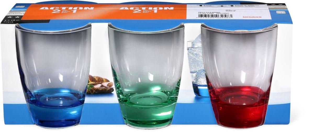 Cucina & Tavola Trinkgläser Tricolore im Duo-Pack