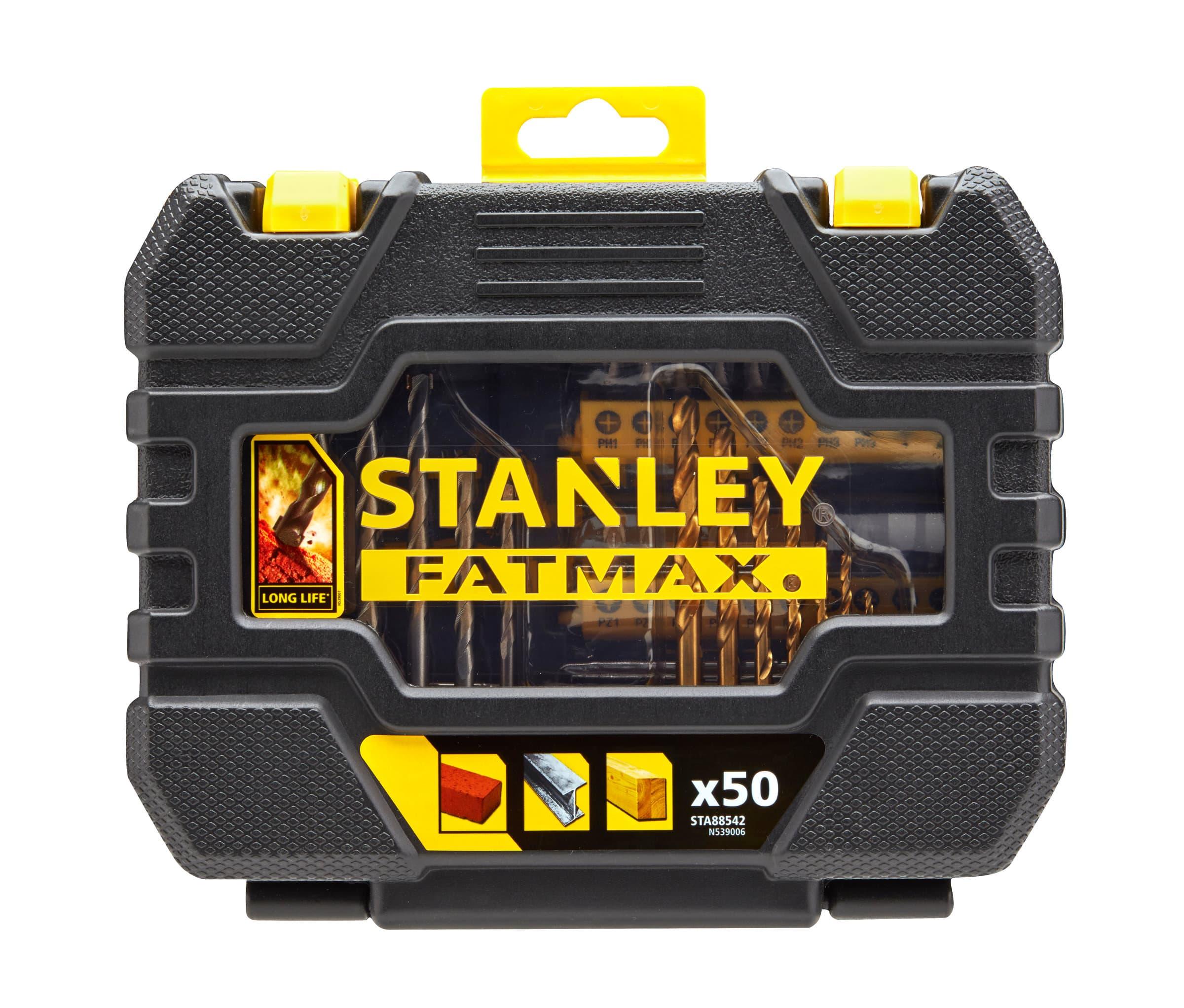 Stanley Fatmax Set d'embouts et forets 50 pcs
