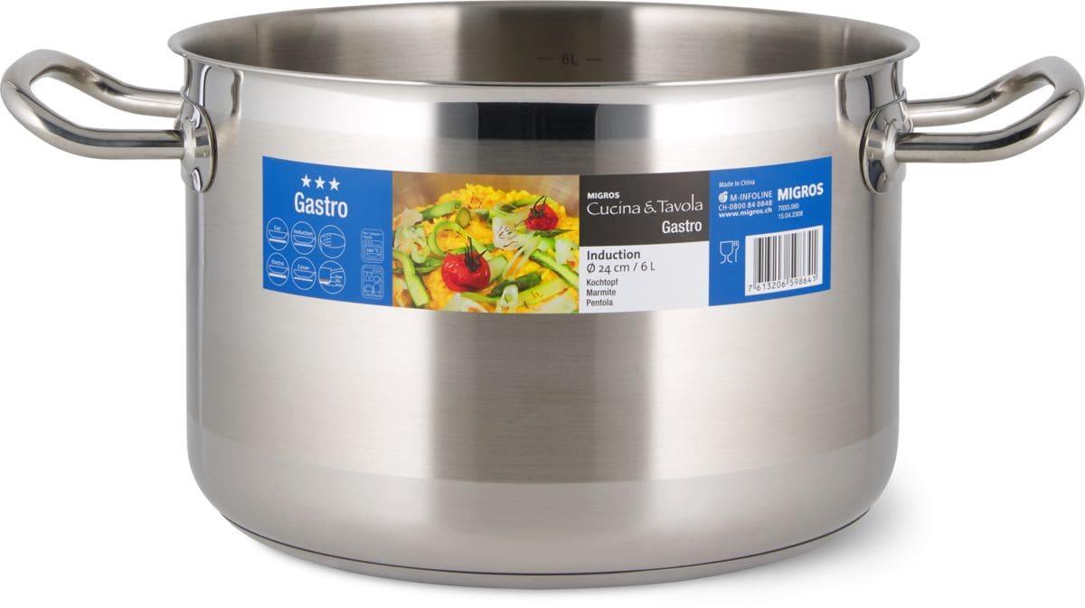 Cucina & Tavola Kochtopf 24cm 6.0L GASTRO
