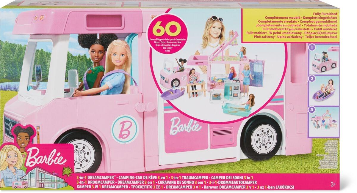 Barbie 3-in-1 Super Camper mit Zubehör (ohne Puppe) Puppenset
