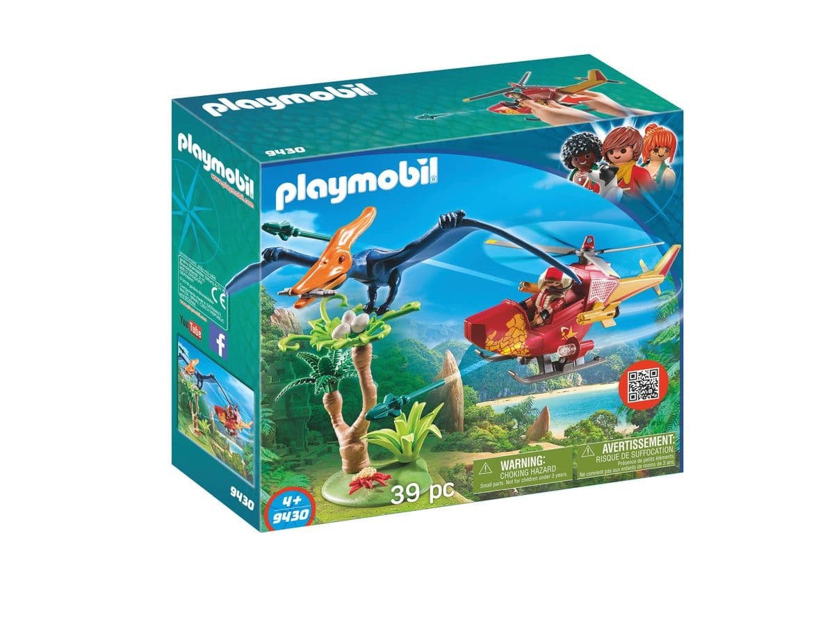 PLAYMOBIL® Hélicoptère et Ptéranodon 9430