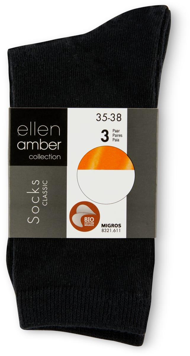 Ellen Amber Damen-Socken im 3er-Pack, Bio Cotton