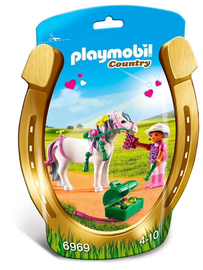 PLAYMOBIL Country Poney avec petits cœurs 6969
