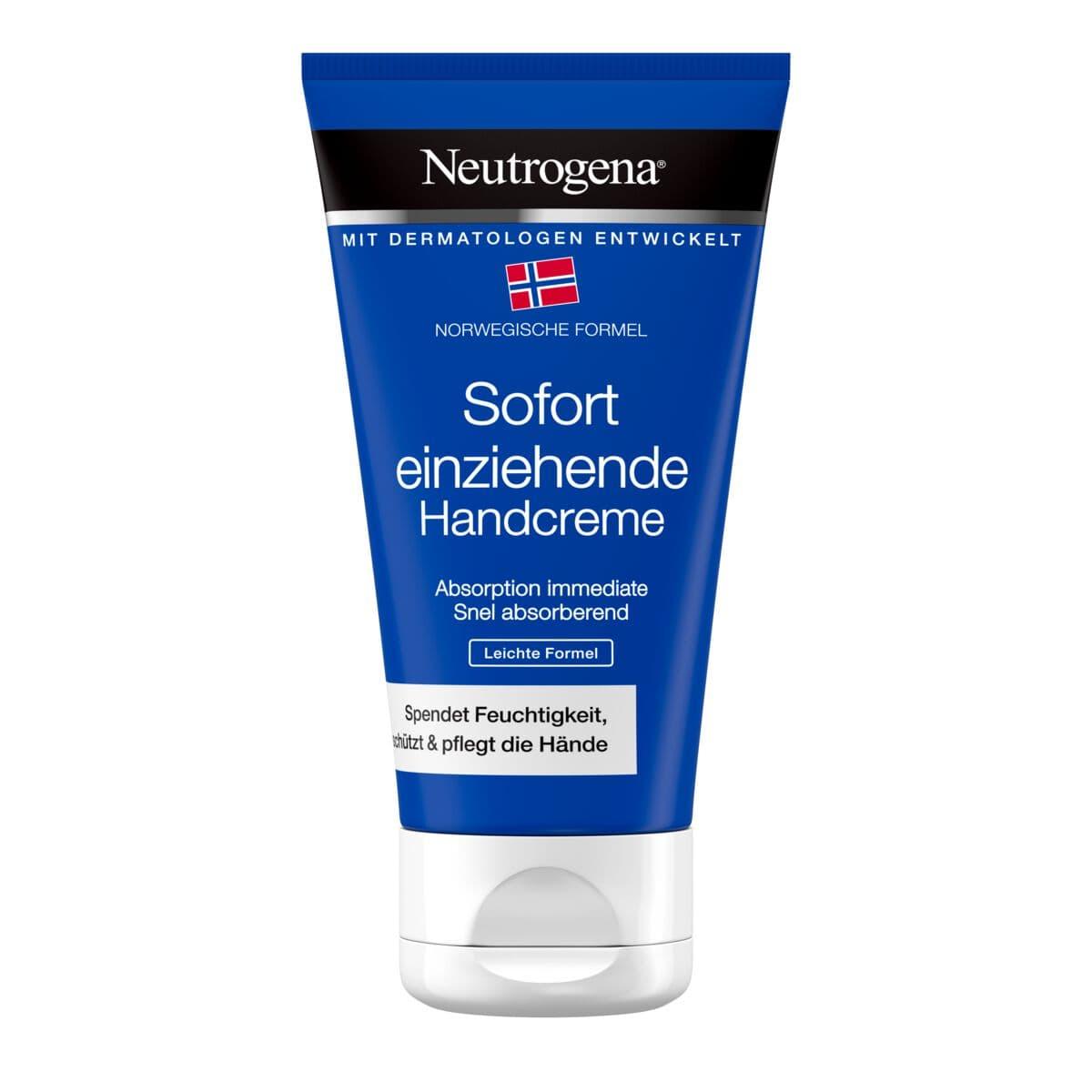 Crème pour les mains Neutrogena avec pénétration immédiate