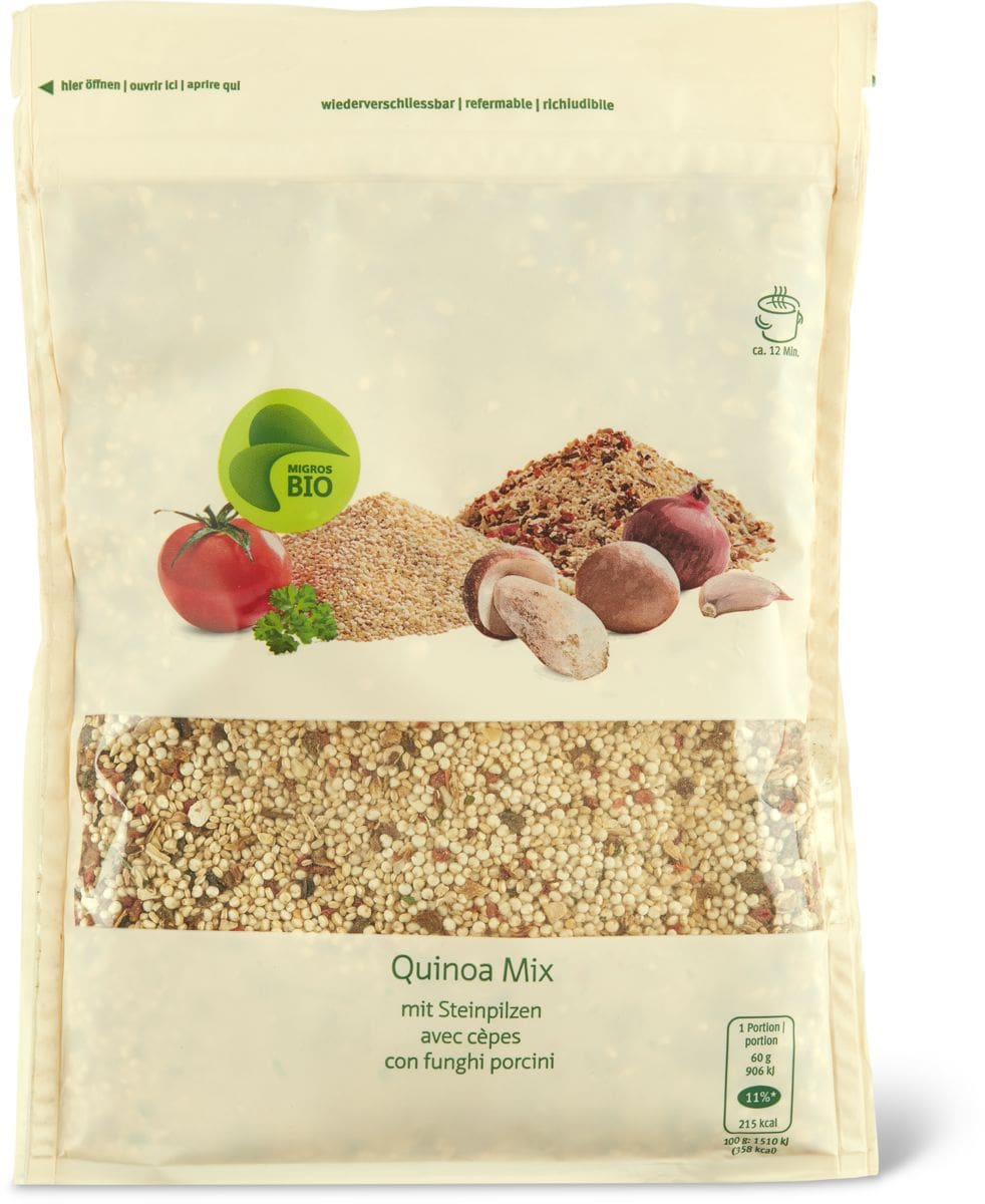 Bio quinoa mix avec cèpes