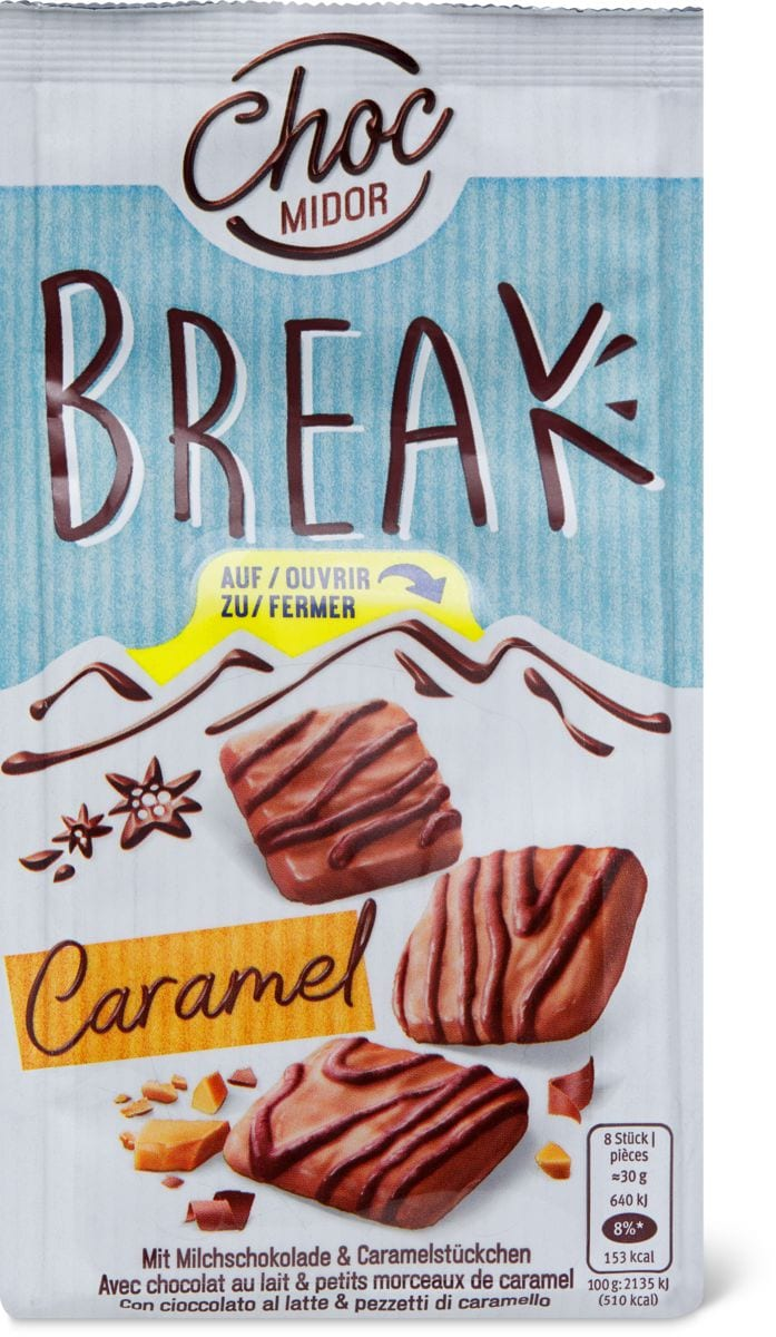 Choc Midor Break Caramel