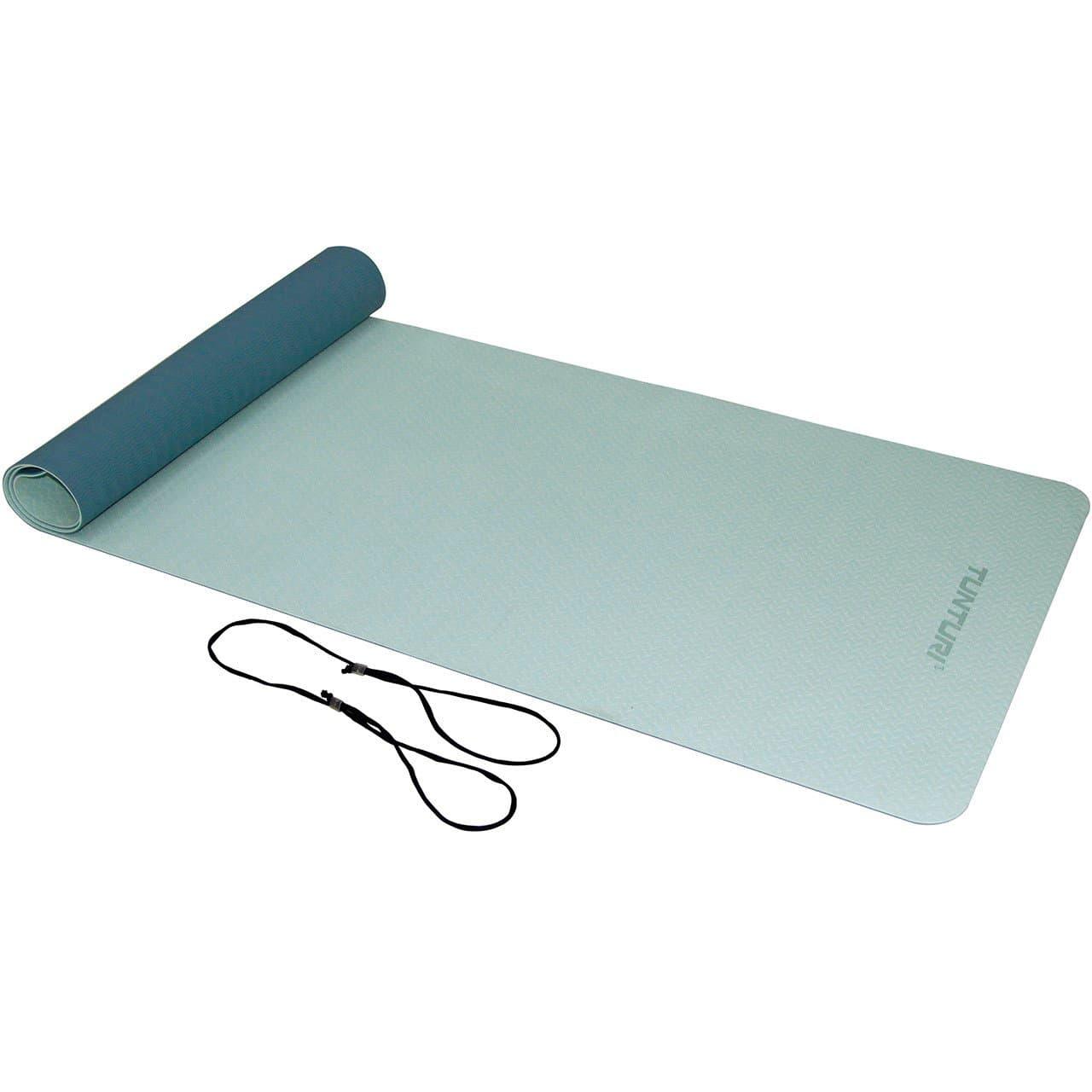 Tunturi Tapis de yoga TPE antidérapant 4mm bleu