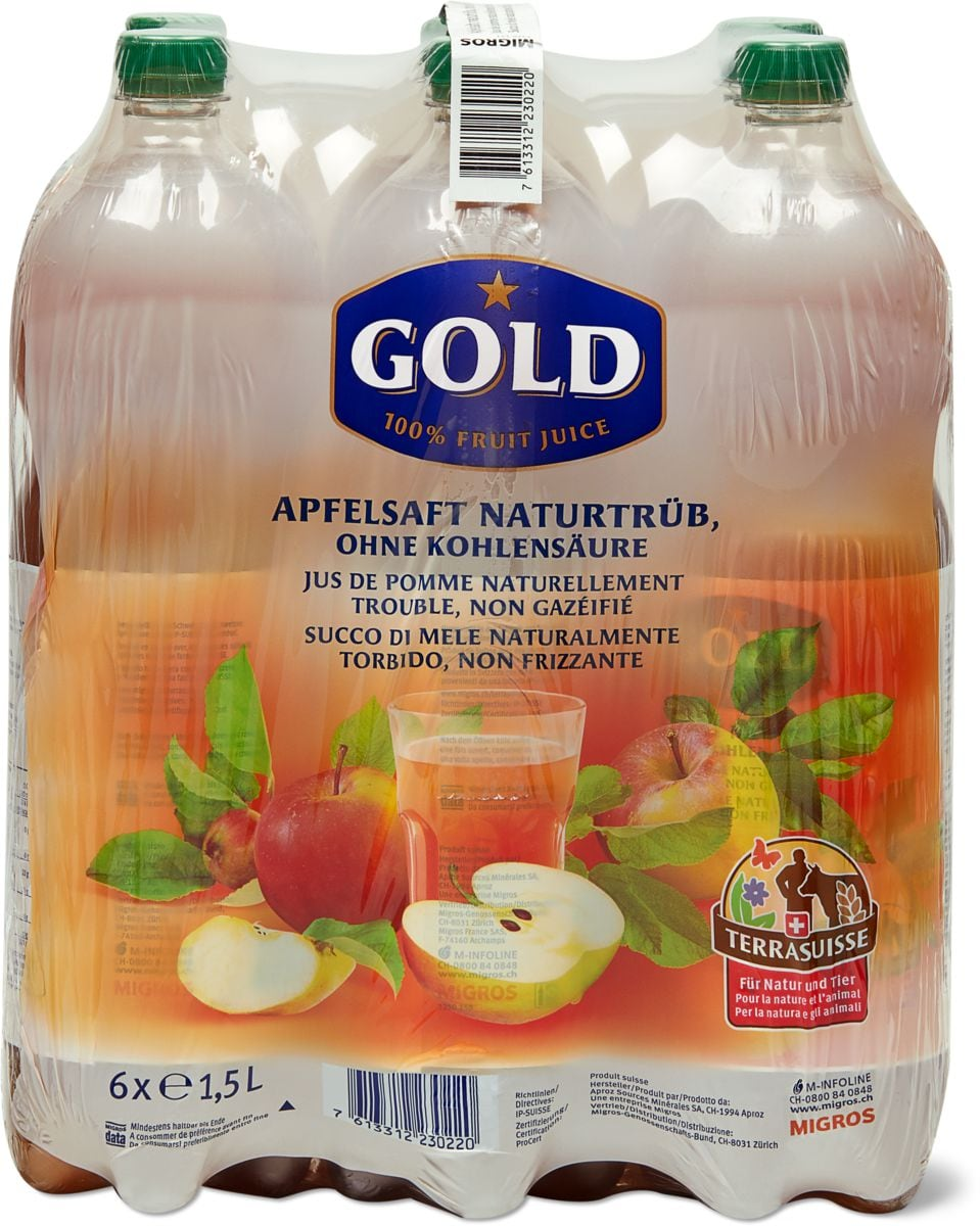 Gold TerraSuisse Apfelsaft trüb