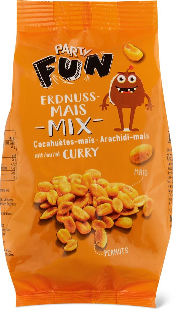 Party Erdnuss - Mais Mix Curry
