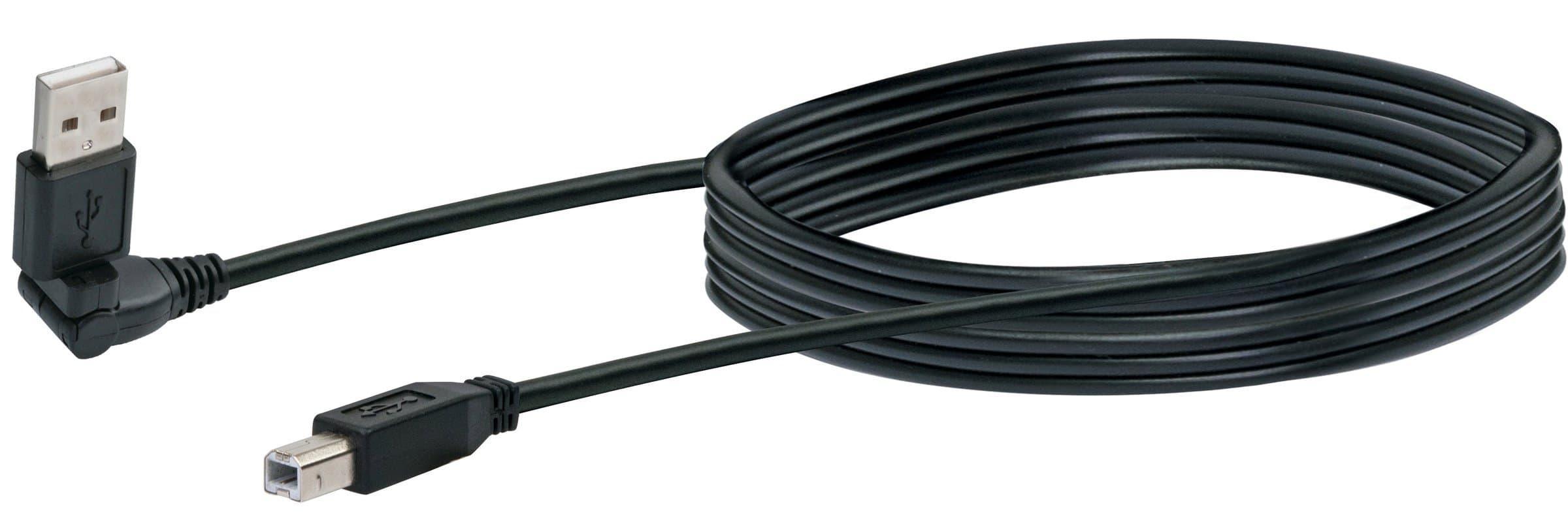 Schwaiger Cavo USB 2.0 1.5m nero, USB 2.0 tipoA 360° / USB 2.0 tipoB