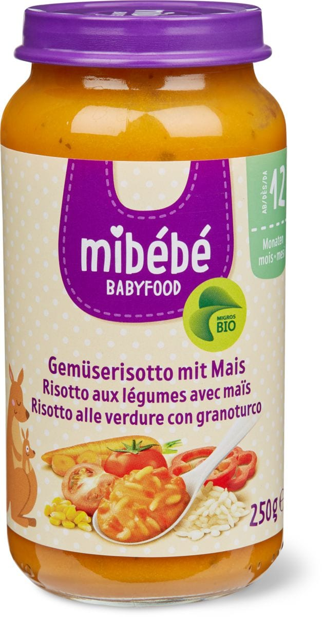 Mibébé risotto légumes avec maïs
