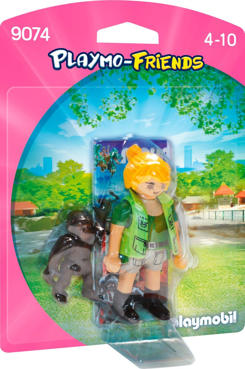 Playmobil Playmo-Friends Assistente zoo con scimmietta 9074