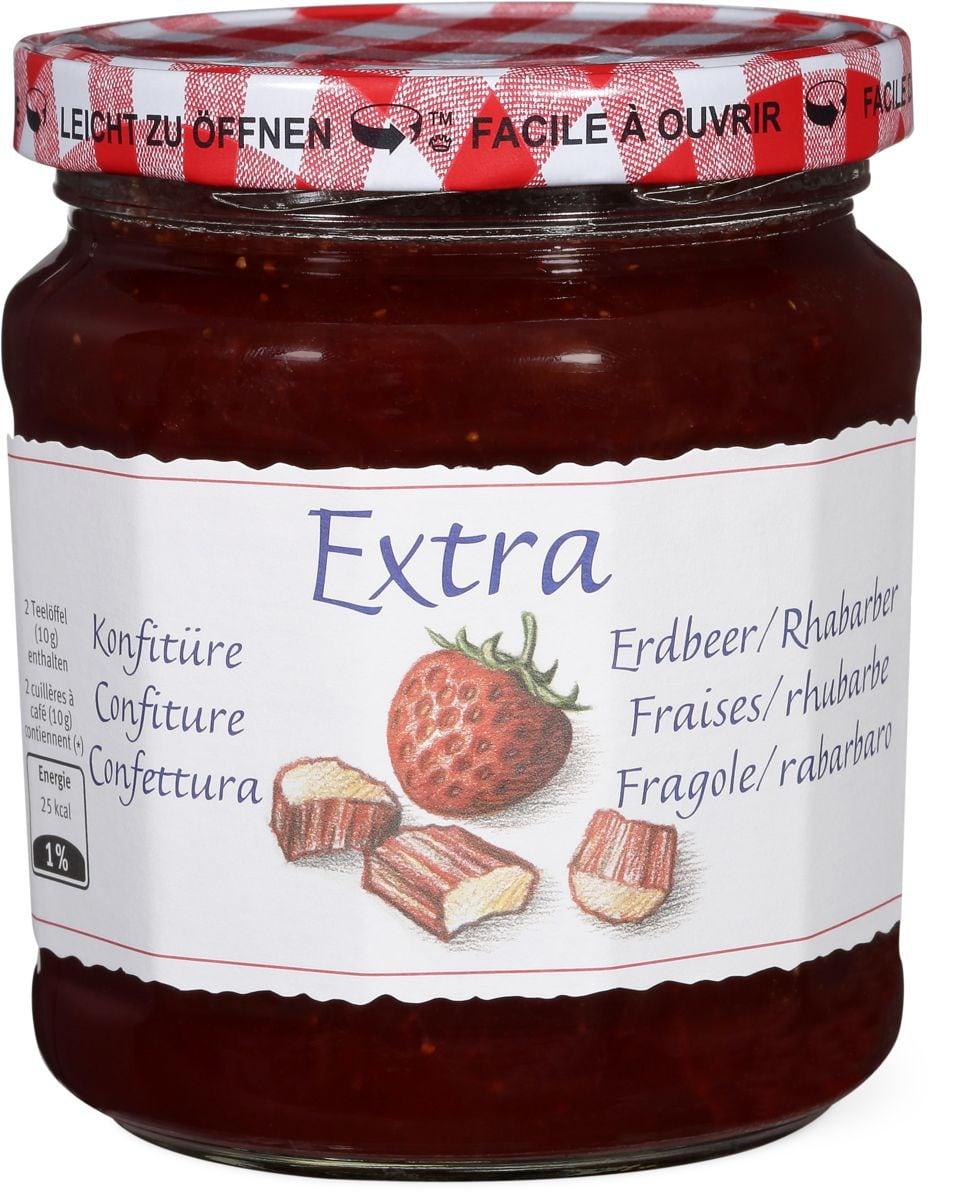 Extra Konfitüre Erdbeer/Rhabarber