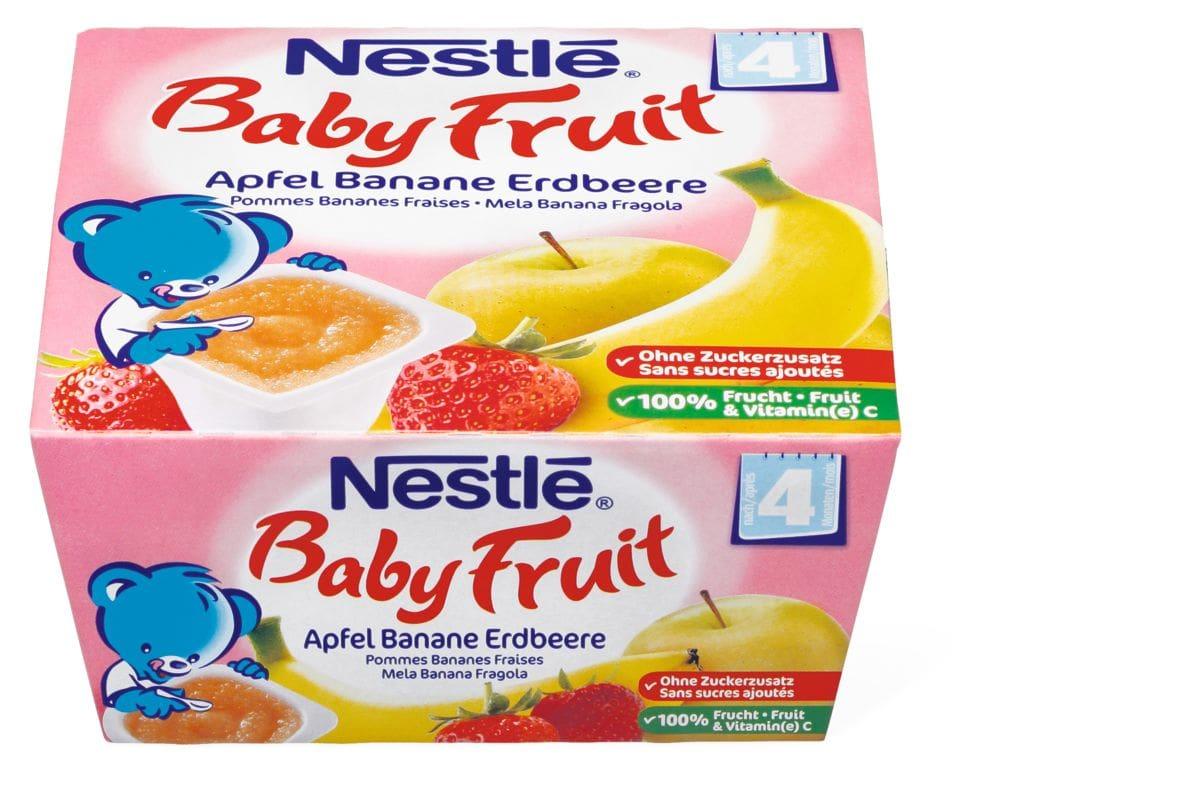 Nestlé Baby Fruit Apfel Banane Erdbeere
