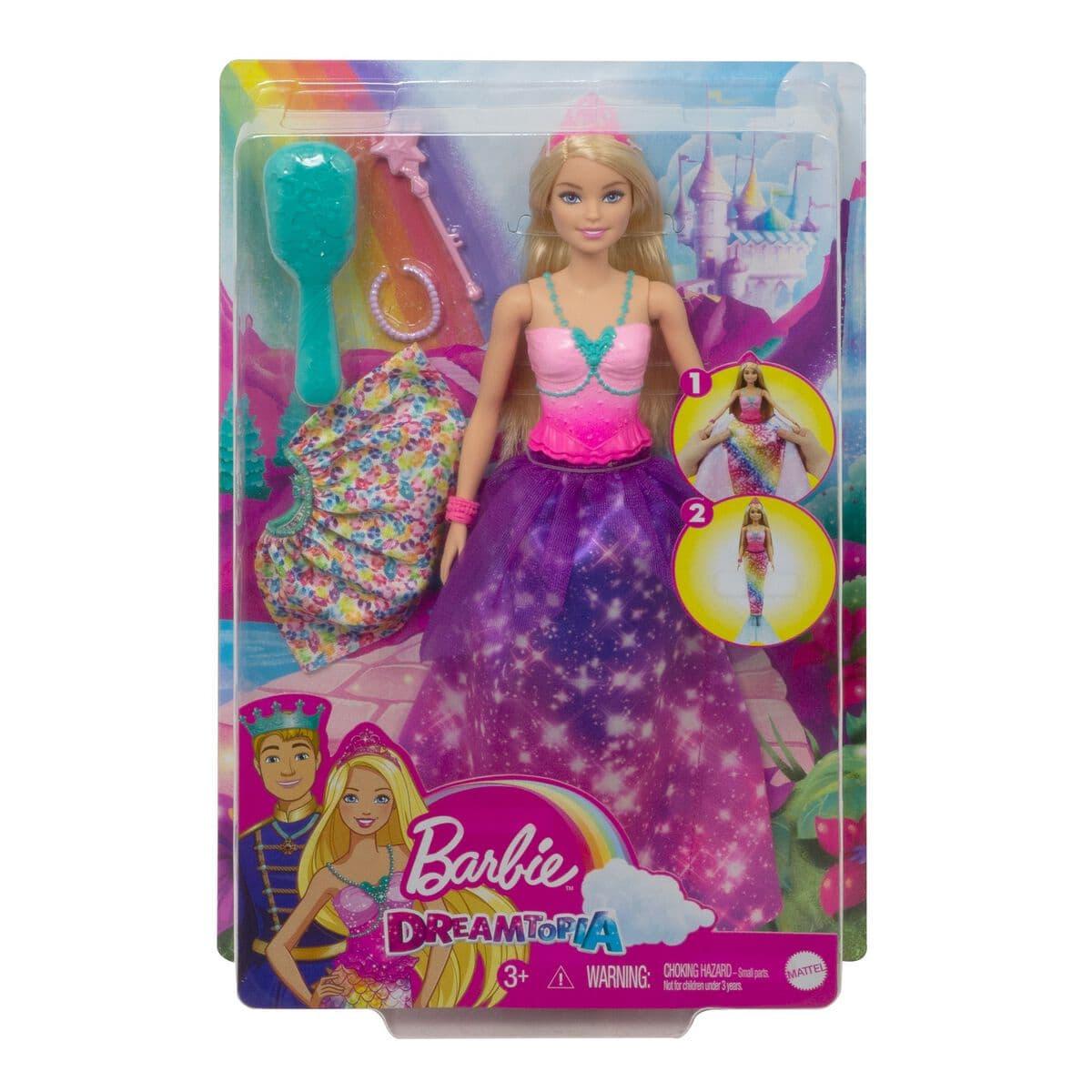 Barbie GTF92 Dreamtopia 2-in-1 Bambole