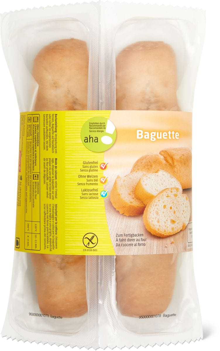 Baguette claire exempt gluten aha!