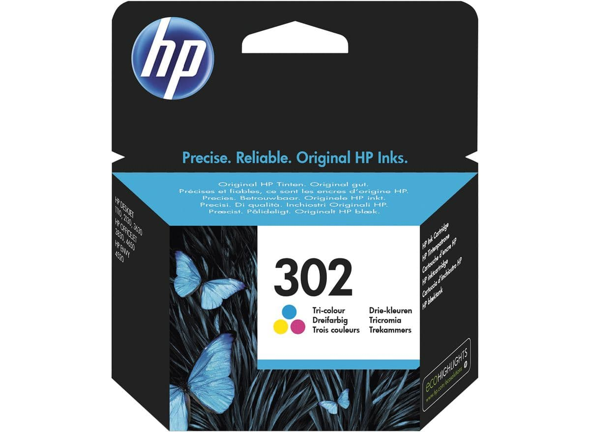 HP 302 dreifarbig Tintenpatrone