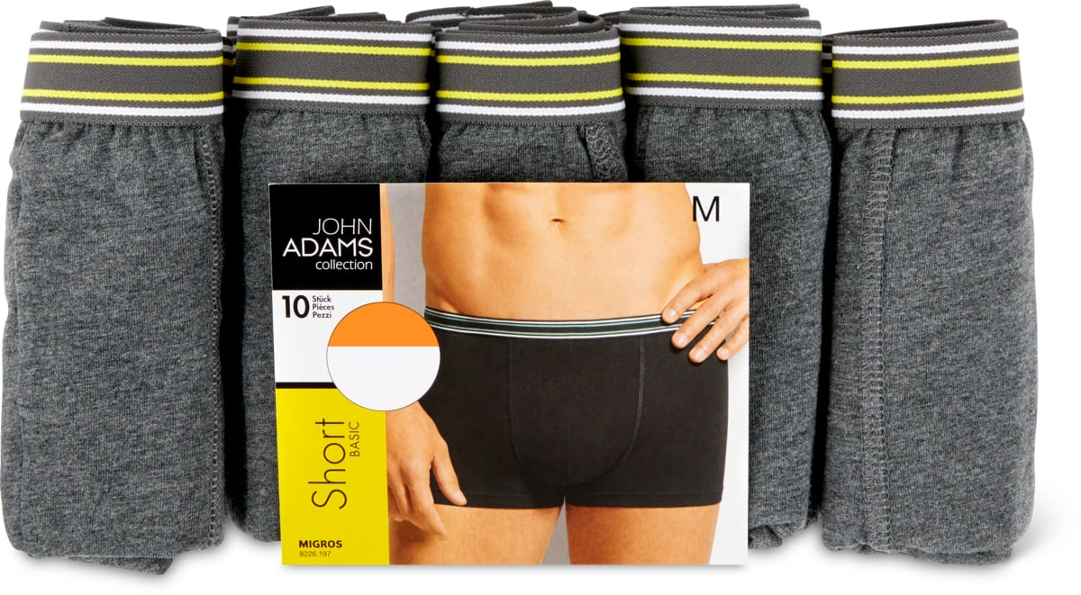 John Adams Herren-Short im 10er-Pack