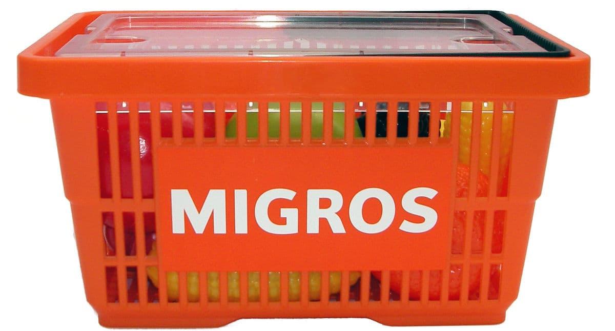 Migros panier avec des fruits et légumes