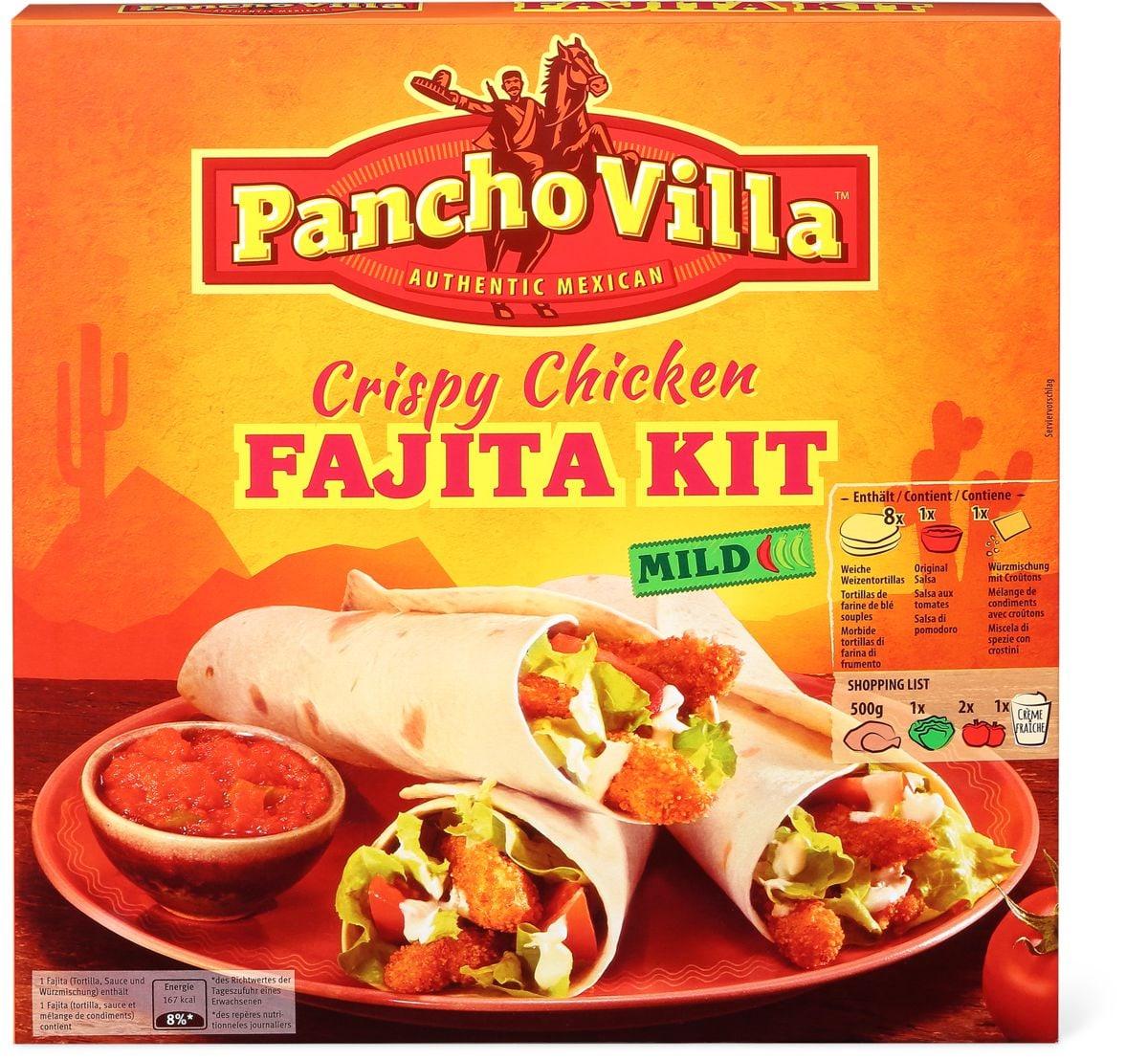 Pancho Villa Crispy Chicken Fajita Kit