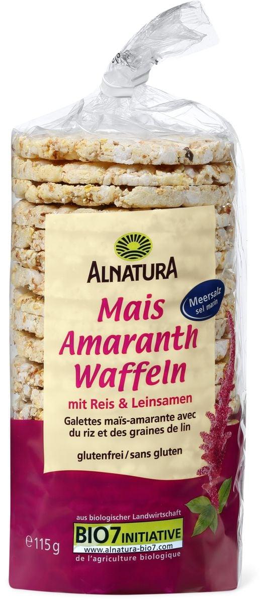 Alnatura Mais-Amaranth Waffeln