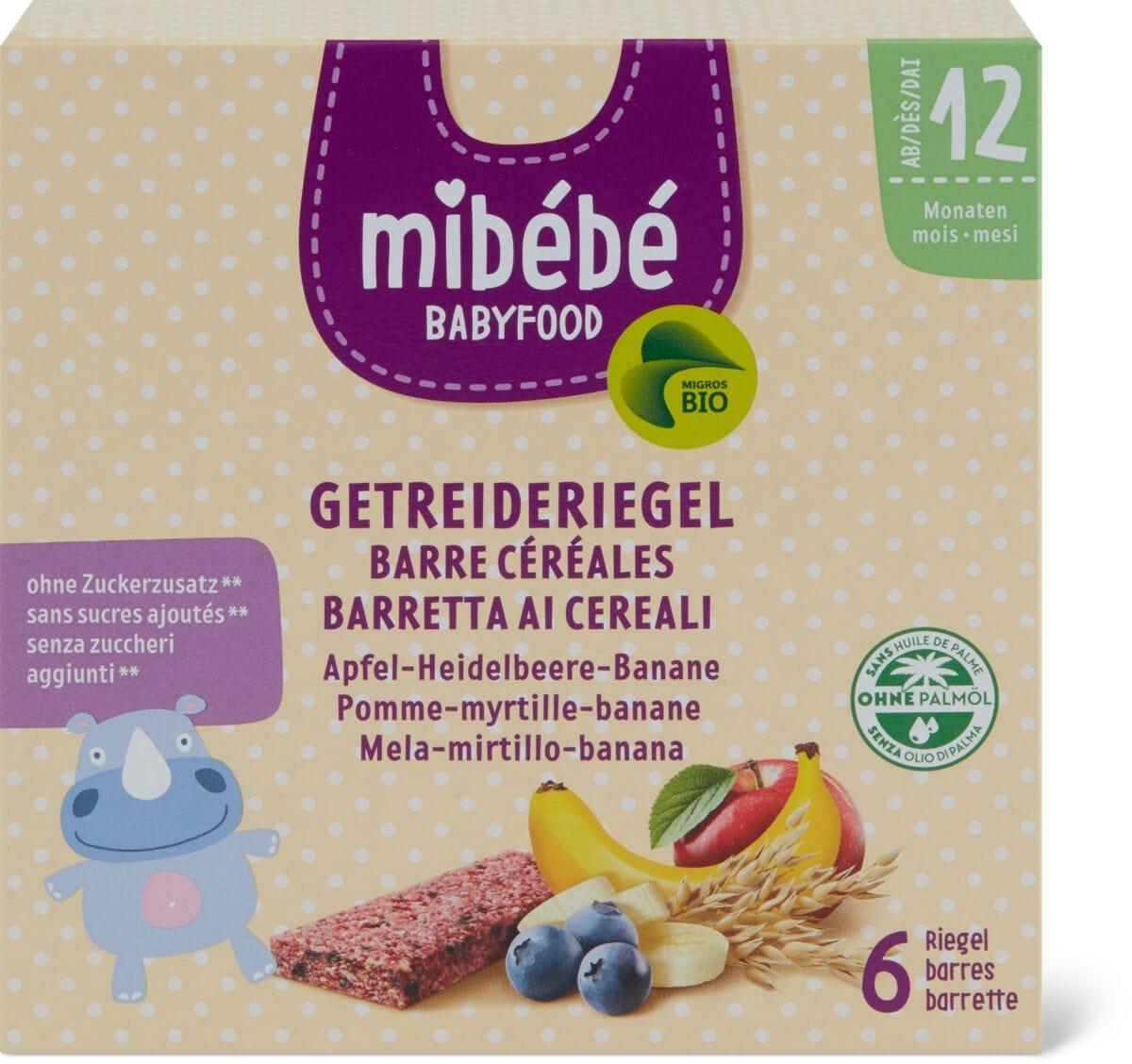Mibébé Barre cér. myrtilles-bananes
