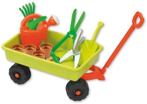 ANDRONI Karren mit Gartenset Sandspielzeug