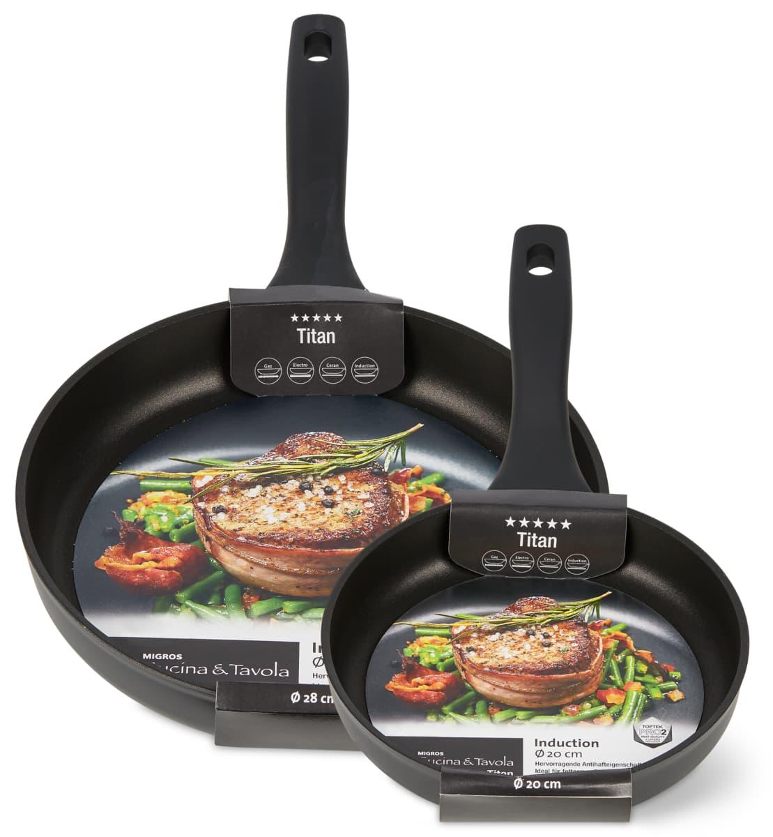 Cucina & Tavola Titan Bratpfannen im 2er-Set, 2er-Set