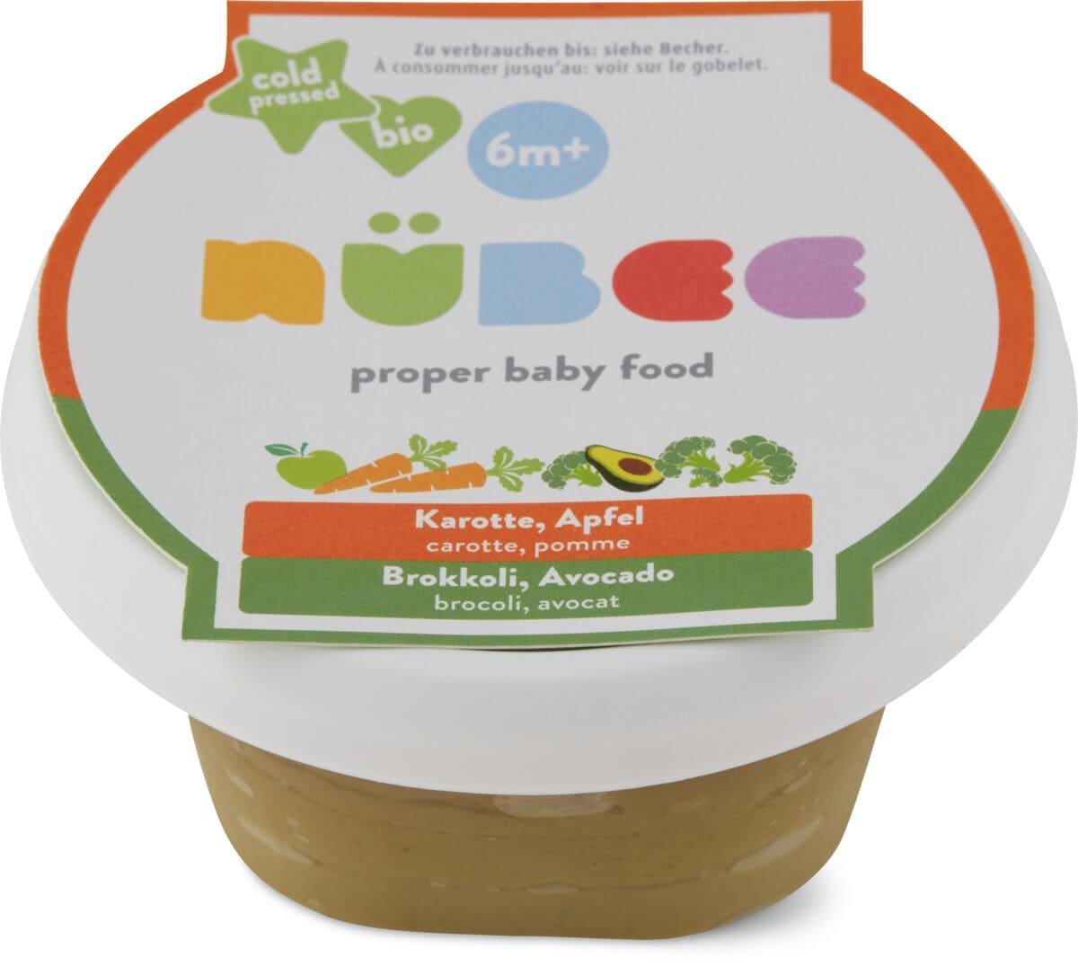 Nübee carota, mela broccoli, avocado