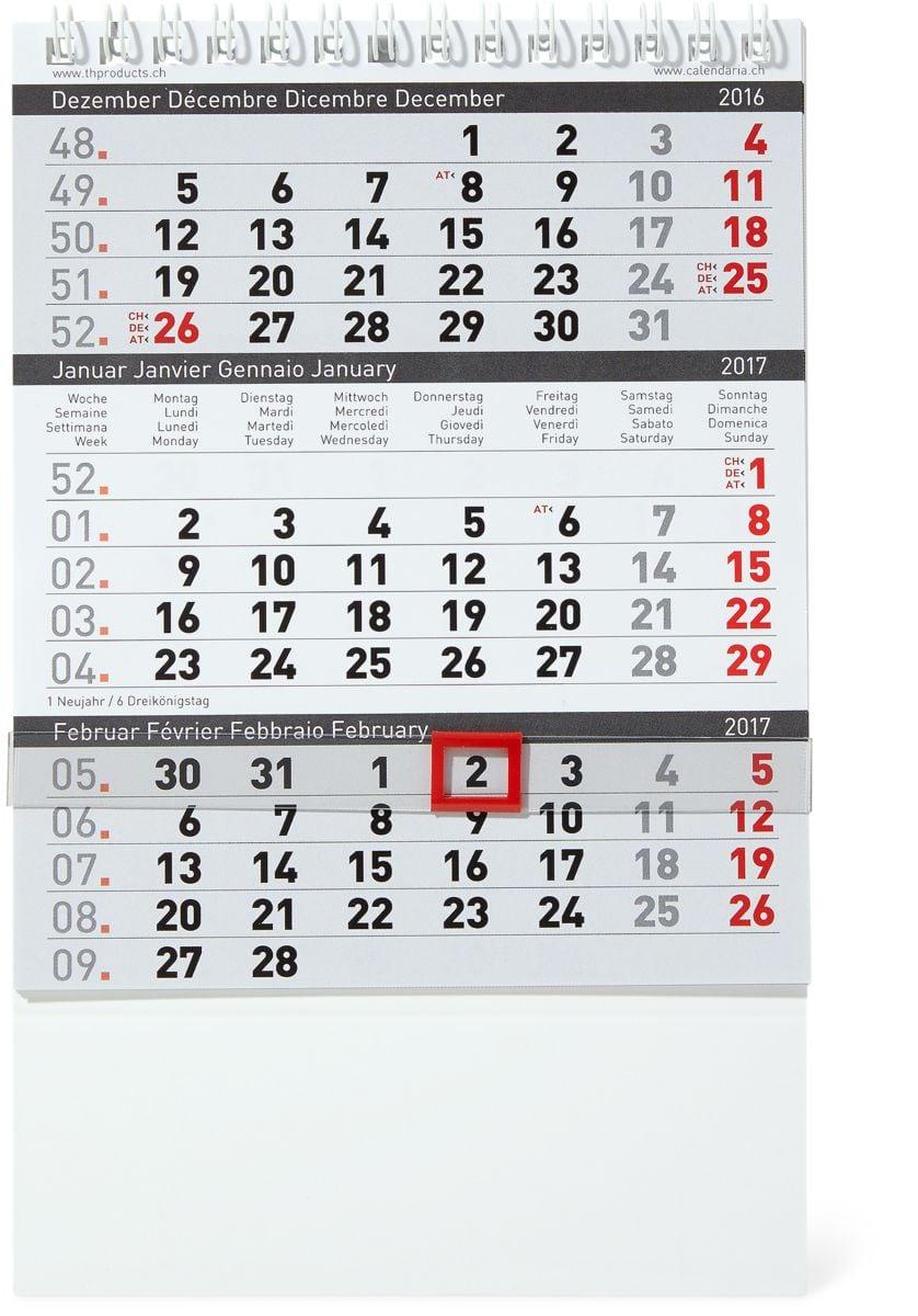tischkalender 3 monate 12 5 x 2017 migros. Black Bedroom Furniture Sets. Home Design Ideas