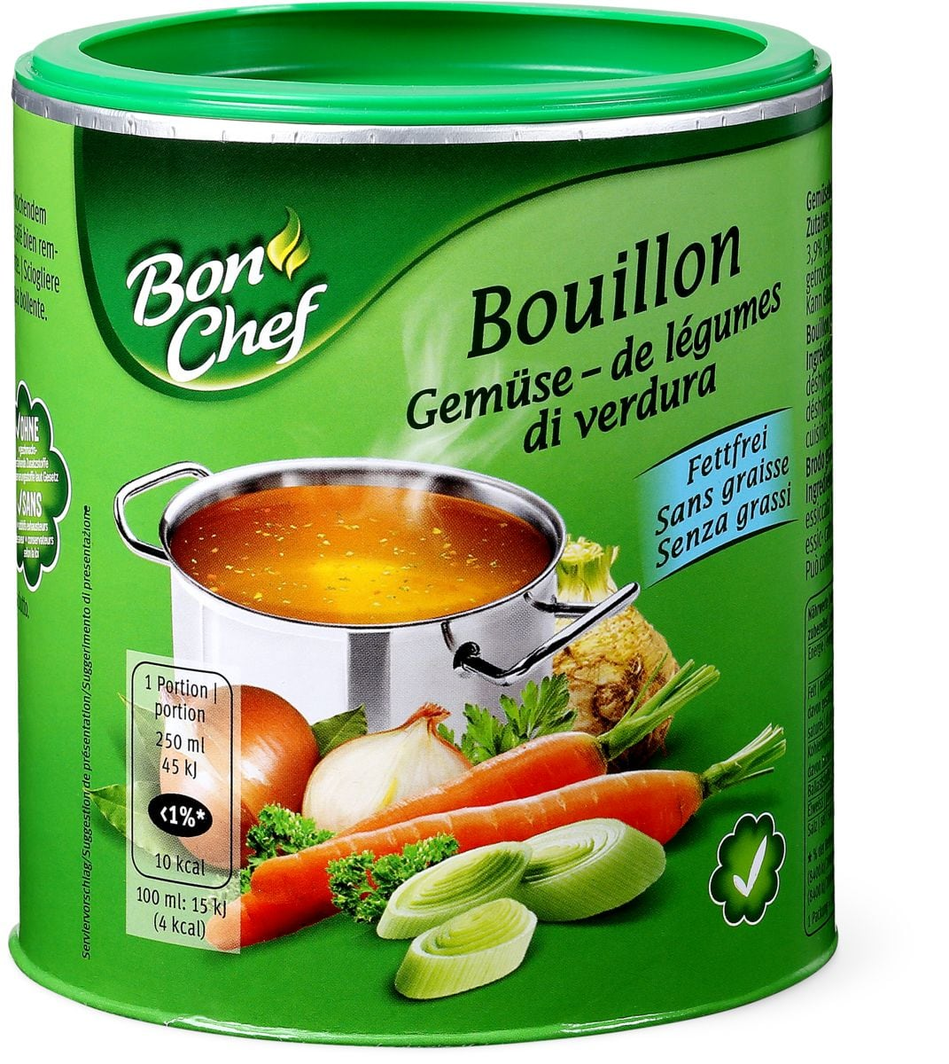 Bon Chef bouillon Légumes sans graisse