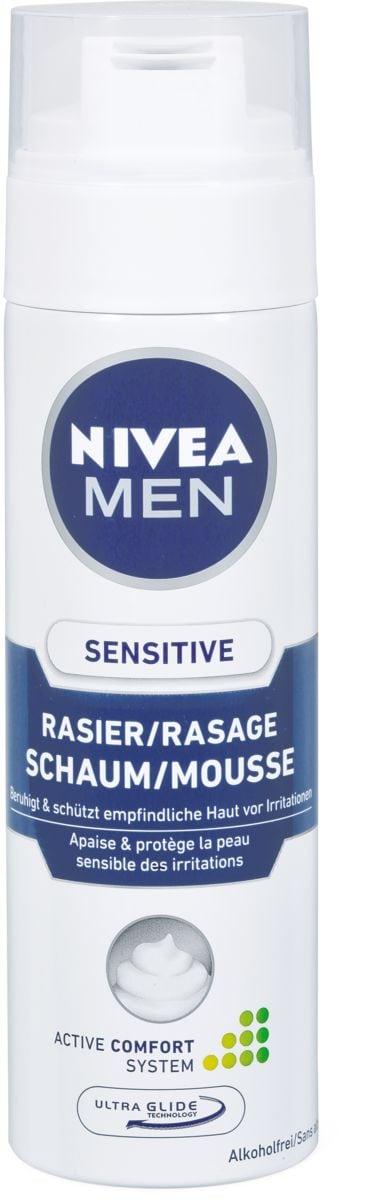 Nivea Men Schiuma barba sens.