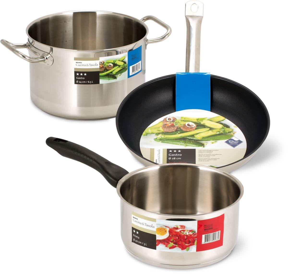 Cucina & Tavola-Prima und -Gastro Kochgeschirr-Serie